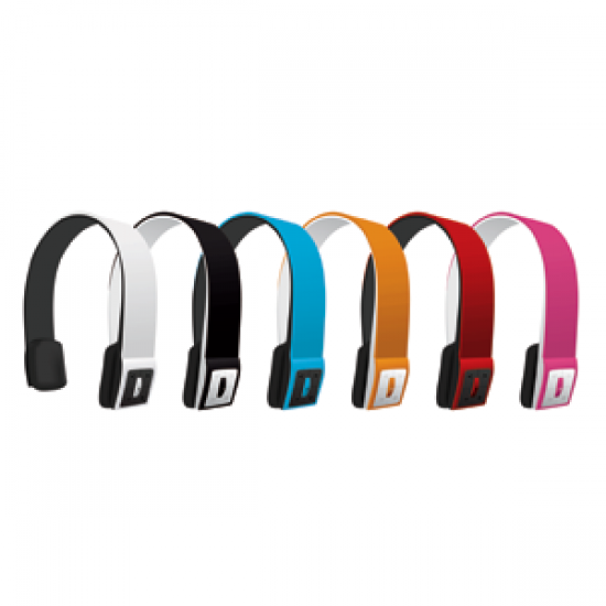 Headset Stereo Bluetooth Universal Red