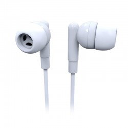 Laser Earbud Headphone with Mic in White