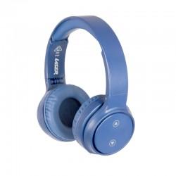 Laser Bluetooth Headphone On-Ear with Hands-Free Mykonos Blue