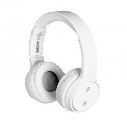 Laser Foldable Wireless Bluetooth Stereo Headphones Bright White