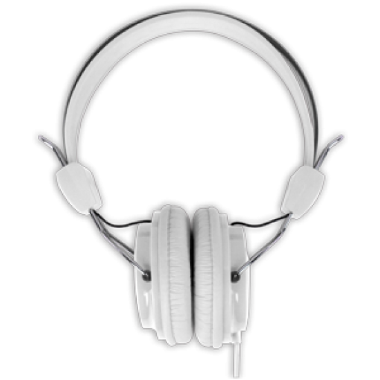 Headphones Stereo Kids Friendly Colourful White