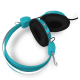 Headphones Stereo Kids Friendly with mic Colourful Blue