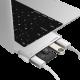 USB C multi port hub USB C charging, USB A ports and SD Card reader