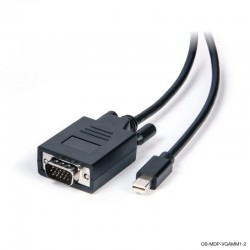Mini DisplayPort to VGA Male to Male Cable 1M