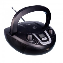 Laser CD Bluetooth Boombox with AM & FM Radio