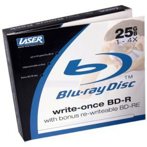 DVD-L-BDRTWIN BD-R Bonus BD-Re Blu-Ray 25GB 1-2x Printable