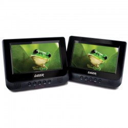 Laser Dual Screen Portable DVD Player In Car 7-inch with Bonus Pack