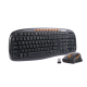 Keyboard Mouse 2.4GHz 1200dpi Coloured keys