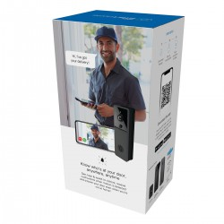 Laser Smart Full HD Video Doorbell Black