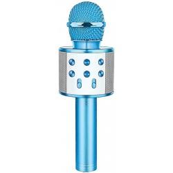 Laser LED Karaoke Microphone Blue