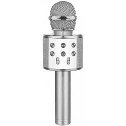 Laser LED Karaoke Microphone Silver