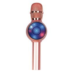 Laser LED Karaoke Microphone Rose Gold