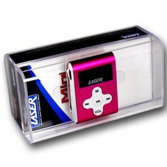 LASER A8 MP3 PLAYER WITH LCD & FM 2GB PINK COLOUR