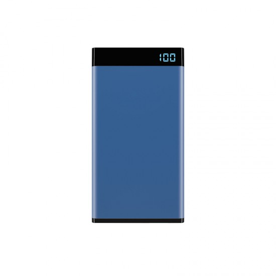 Laser 5000mAh Power Bank with 3-in-1 Cable and LED display Blue