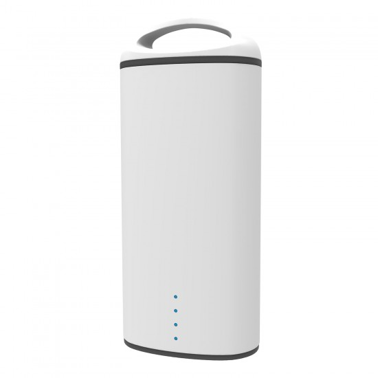 Precision 5000mAh Power Bank with 3 in 1 Cable  White
