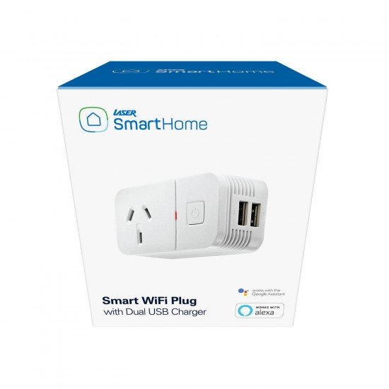 Laser Smart WiFi Plug with Dual USB Charger