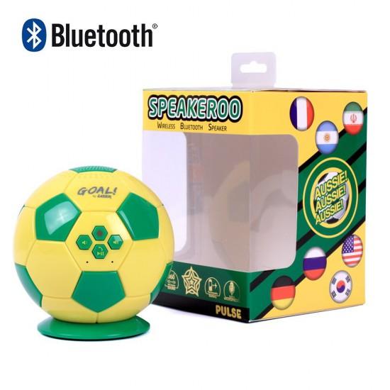 Soccer Ball Bluetooth Speaker in Aussie Green & Yellow