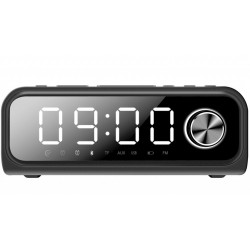 Laser Alarm Clock FM Radio Wireless Charging with Bluetooth Speaker Red