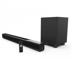 Laser Soundbar with Bluetooth and Wireless Sub-woofer